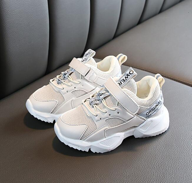 BOUSSAC KIDS Spring Children Black Casual Shoes Baby Girls Fashion Sport Sneaker Toddler Boy White Mesh Trainer Running Shoes