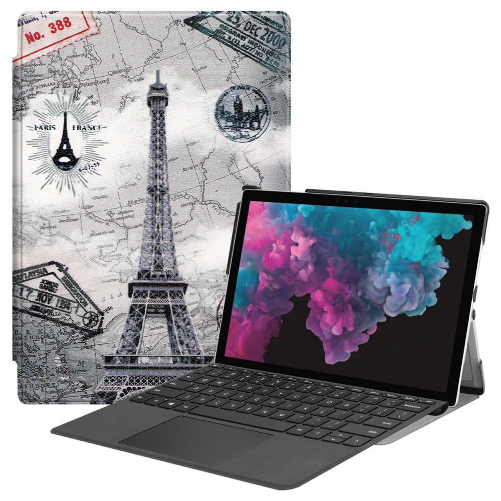 Stand Cover Case For Microsoft Surface Pro 7 2019/ Pro 6 2018 / Pro <font><b>5</b></font> <font><b>2017</b></font>/ Pro 4 12.3in Stand Holder Design For Microsoft image