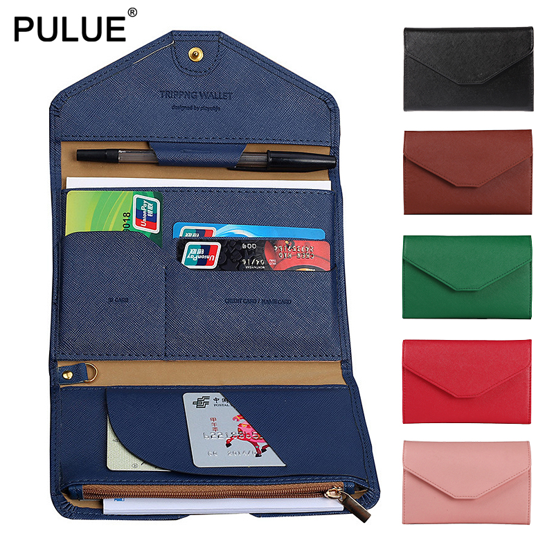 Travel Necessities Go Abroad Multi-purpose Passport Cover Men Folding Leather Travel Wallet Women ID Credit Card Holder Key Bag