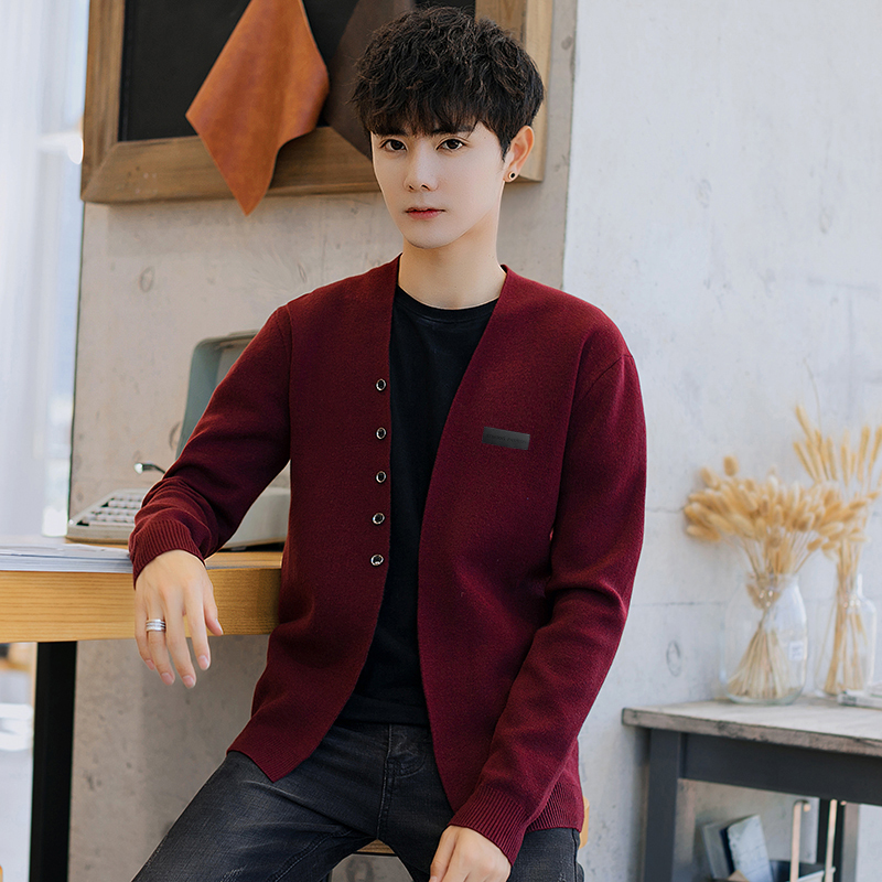 Cardigan Men Sweater 2019 Single Breasted For Sweater Men Autumn Winter Casual Long Sleeve For Men Clothes New Arrival M-4XL