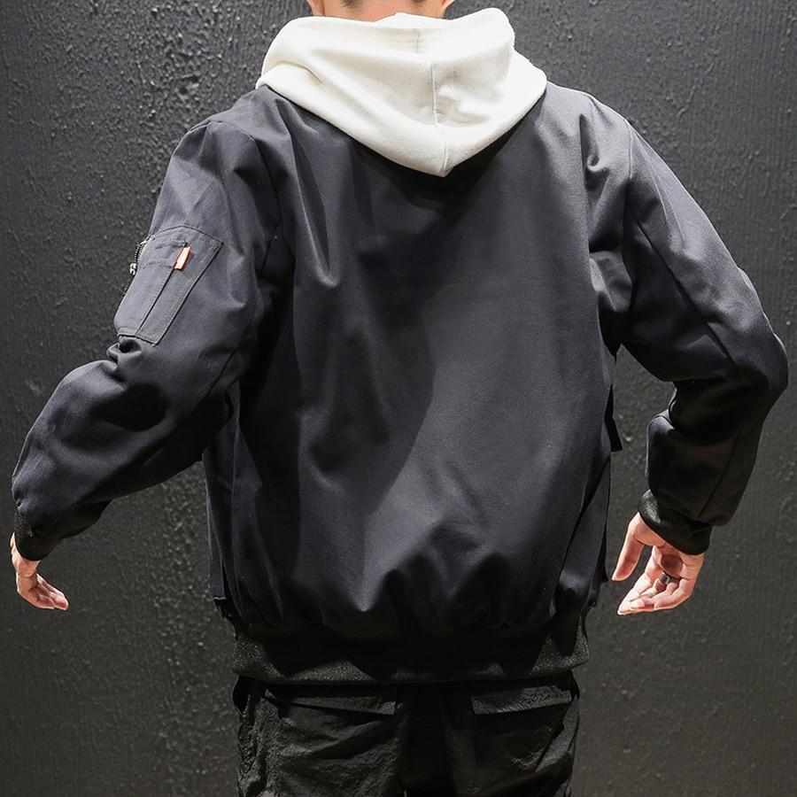 Черная джинсовая повседневная мужская куртка с карманами, мужские джинсовые куртки, Мужская модная Японская уличная одежда, хлопок, 5xl, HH50JK - 5