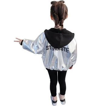 Kids Sport Leather Jacket Fall Girls Hoodies
