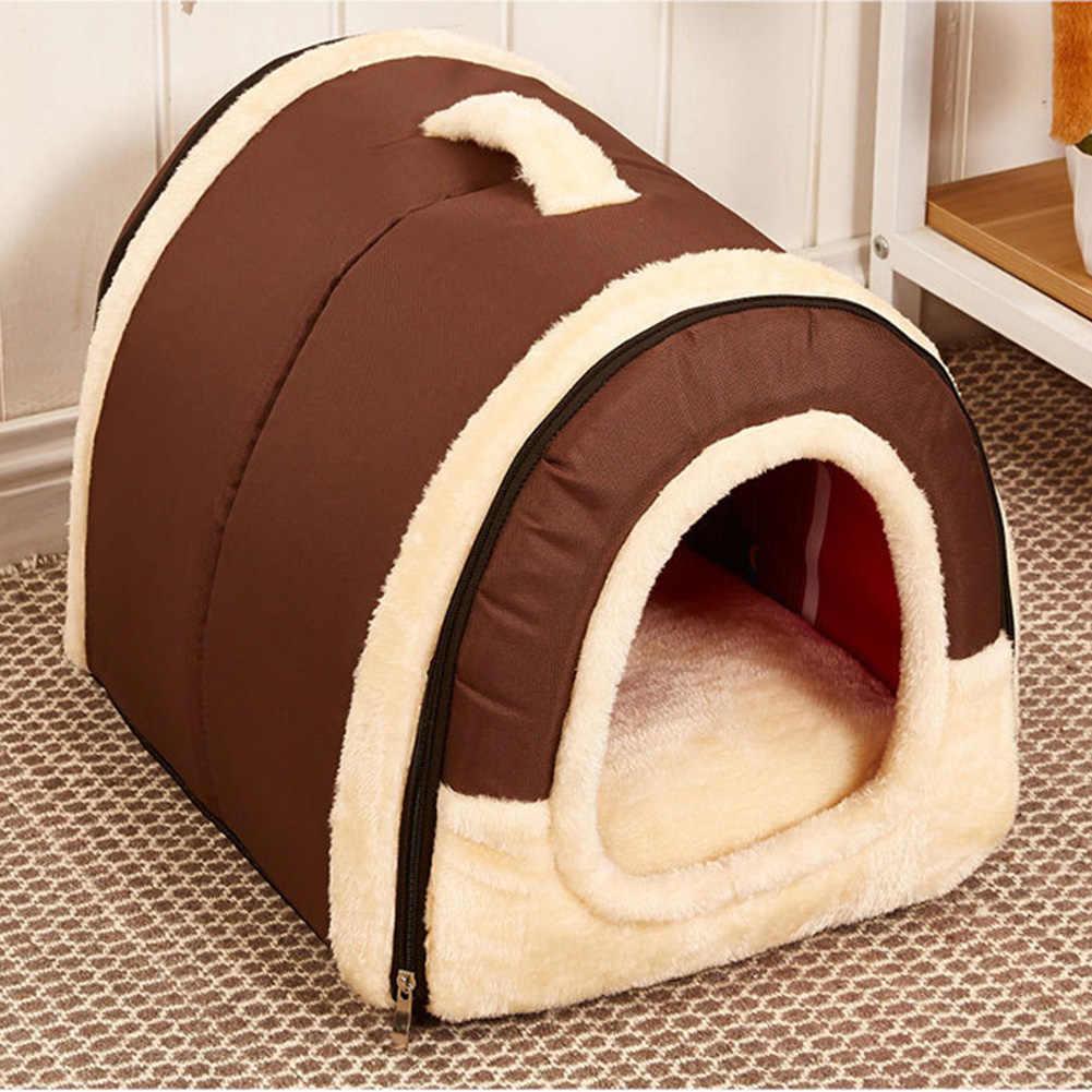 ソフト猫犬ペットハウス折りたたみ洗えるベッドテディホーム綿ウォームペット製品旅行 Baskett かわいい動物犬洞窟