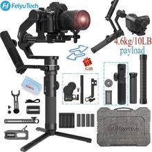 FeiyuTech AK4500 kamera sabitleyici 3 Axis el Gimbal Sony/Canon/Panasonic/Nikon, yük kapasitesi 10.14lb