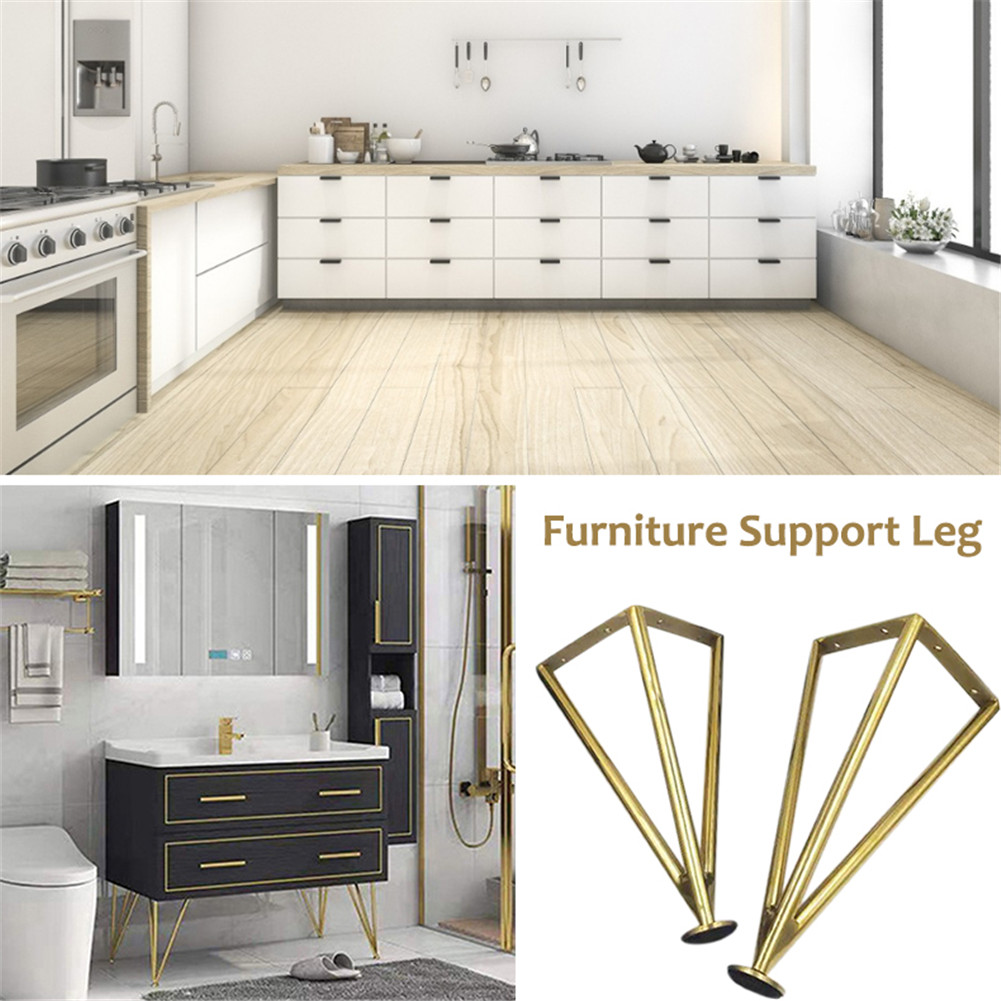 Stainless Steel Furniture Table Legs Metal Tapered Sofa Cupboard Cabinet Furniture Leg Feet 25/30CM Stool Chair Leg Feet