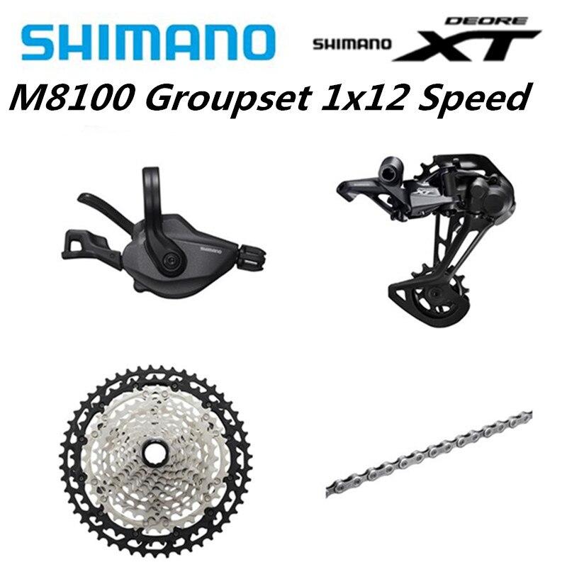 SHIMANO DEORE XT Groupset MTB Mountain Bike 1x12-Speed 51 M8100 12s T SL + RD + CS + HG m8100 Shifter Desviador Traseiro Cadeia Cassete