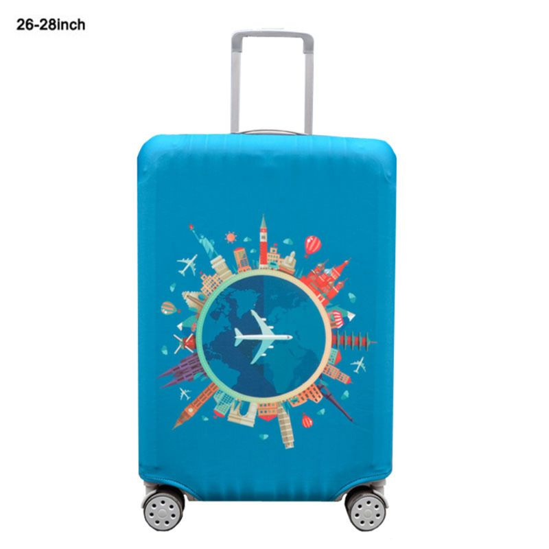 8Colors High Elasticity Travel Luggage Washable Cover Suitcase Protector Dust Covers Case Fits 18-32 Inch