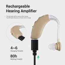 2020 Newest cheap Rechargeable Mini Digital Hearing Aid Sound Amplifiers Wireless Ear Aids for Elderly Moderate to Severe Loss