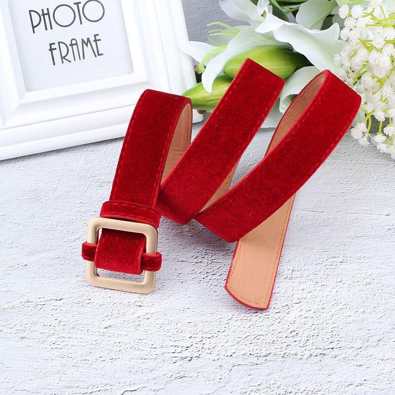 Designer's New Luxury Fashion Velvet Red And Black Off White Belt Premium Flannel Sweater Coat Dress Jeans Women Belts Ceinture