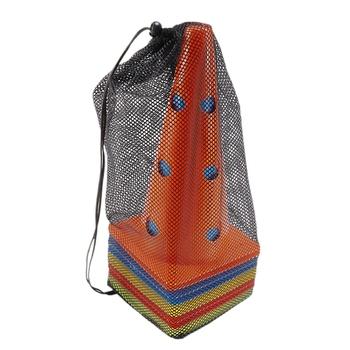 12 Cal kolor perforowany plastikowy stożek 10 zestaw-piłka nożna piłka nożna koszykówka zwinny trening miejsce szkolenia znak z przechowywania tanie i dobre opinie football football training Soccer cones cones for football CN (pochodzenie)