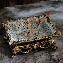 Europejski styl Popielniczka z żywicy salon pulpit akcesoria spersonalizowane luksusowe rocznika Popielniczka Popielniczka Home Decor DA60YHG cheap CN (pochodzenie) ashtray ROUND Przenośne ceramic Resin european style