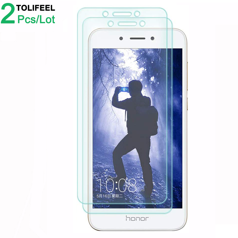 2Pcs Tempered Glass For Huawei Honor 6A Screen Protector 9H 2.5D Phone On Protective Glass For Huawei Honor 6A Glass