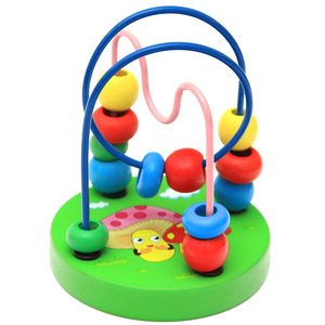 Image 5 - ベビー幼児教育素敵な動物ラウンドビーズ子供のおもちゃ新生児子供ベビーベッドベビーカー携帯モンテッソーリ 9*11 センチメートル