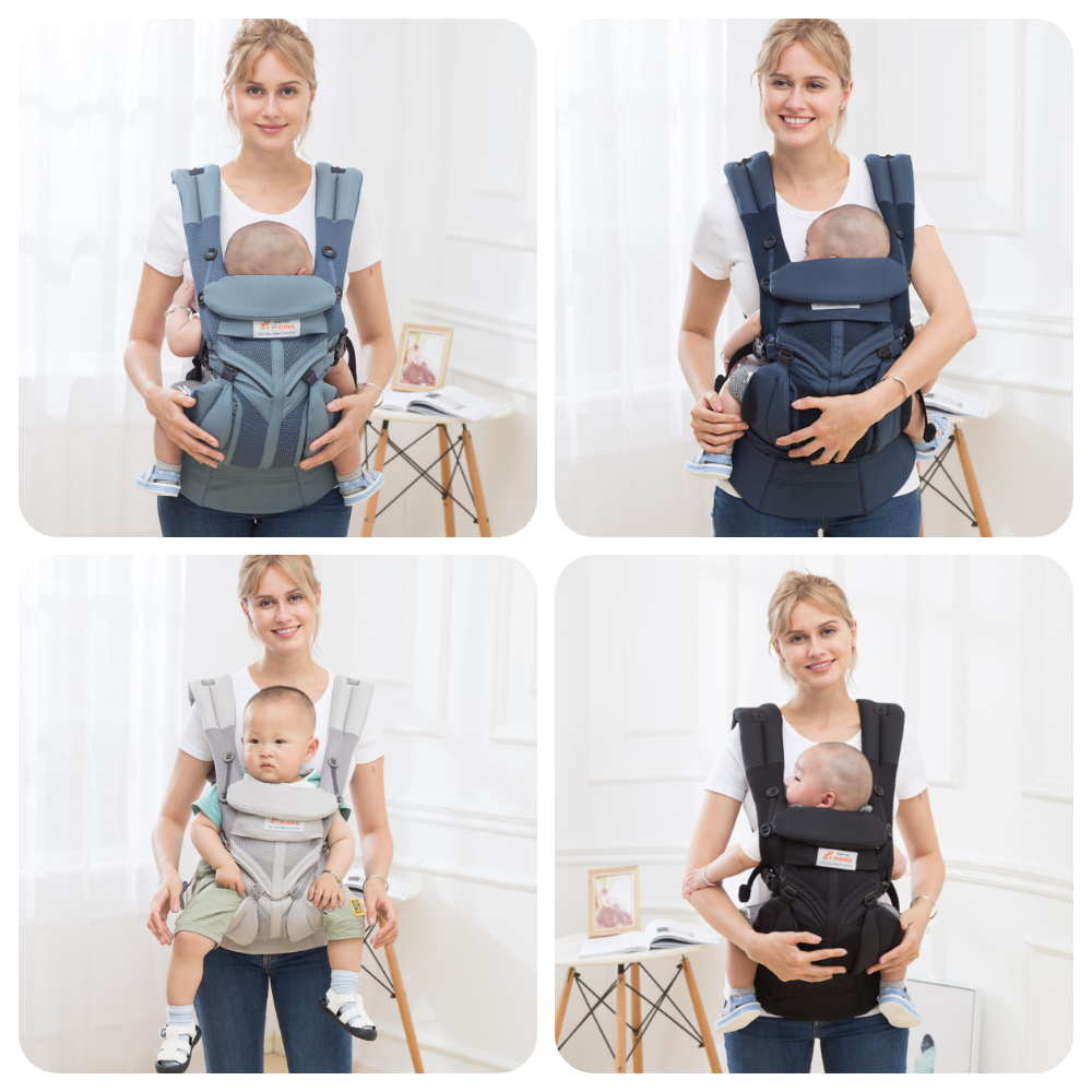 Breathable Baby Sling Adjustable Baby Carrier Breathable InfantWaist Stool Breathable Ergonomic Baby Travel Straps 3-36 Months