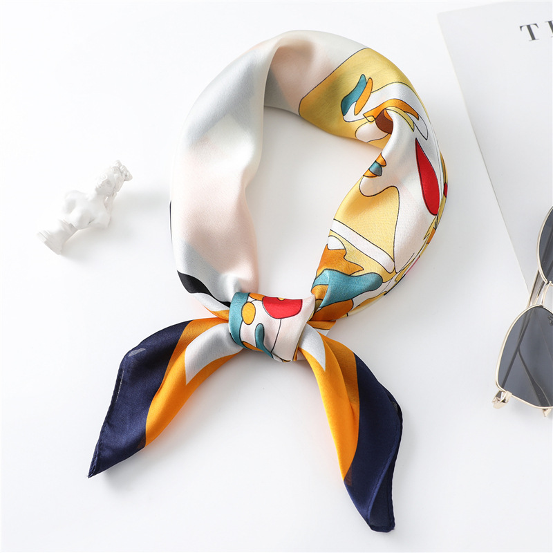 2020 New Spring Summer Women Scarf Small Silk Scarves Square NeckerChief Office Lady Scarves Spring Shawls 70*70cm