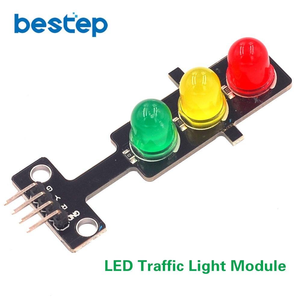 DC 5V mini led traffic light module 5mm red yellow green color led displa es
