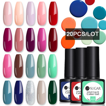 UR SUGAR 10/20pcs/Lot Gel Nail Polish Set 122 Colors Glitter Color Semi Permanent UV Led Gel Varnish Soak Off Nail Lacquers 5