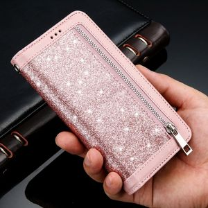 Image 5 - Bling Zipper Flip Leather Wallet Case For Samsung S20 Ultra Note10 Plus 5G S10E S9 S8 S10 Bumper M10 S7 edge Note8 Note9 Cover
