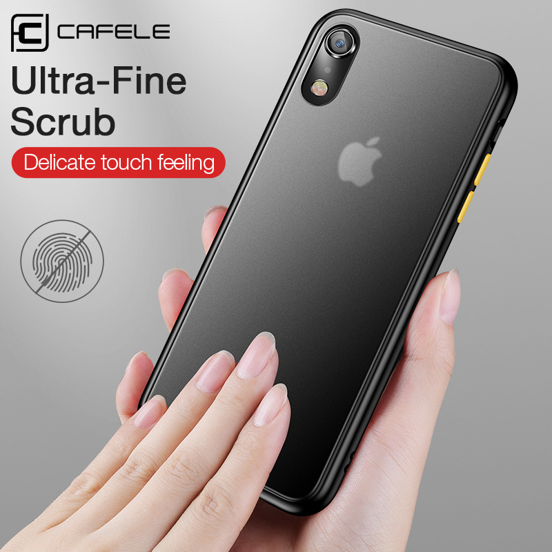 CAFELE Mobile Phone Case for iPhone Xr Cover Soft PC Hard Back Case Full Cover Protective Shell in Fitted Cases from Cellphones Telecommunications