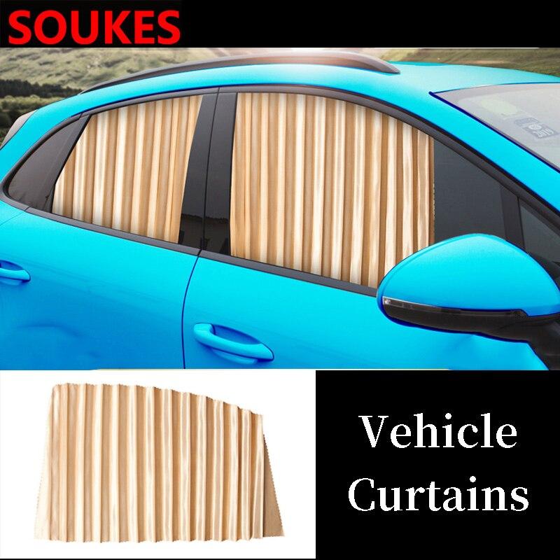 Magnetic Track Car Curtain Window Sun Shade Cover For Peugeot 206 307 407 308 208 Toyota Corolla Yaris Rav4 Avensis Mini Cooper