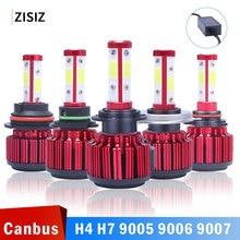 цена на MINI 2pcs/set Car Headlight Bulbs H7 LED H4 HB3 9012 5202 9005 HB4 9006 H13 H11 9004 9007 LED Bulb Canbus 50W 8000LM 6500K 12V