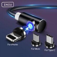 INIU magnétique Micro USB Type C câble Charge rapide chargeur de téléphone aimant cordon de Charge pour iPhone 12 11 Pro XS Max 7 Xiaomi Huawei