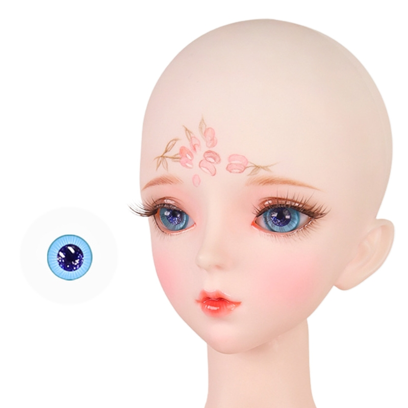 For Bjd Eyeball 14mm Glass Material Green Blue Eyes Suitable For 1/3 1/4 Doll Accessories 8