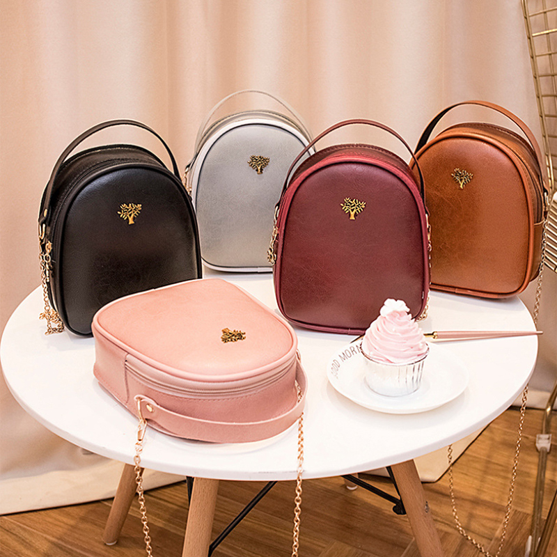 S.IKRR Simple Retro Women Handbag Chain Shoulder Bag Ladies Oil Wax Leather Purse Crossbody Bags For Women 2019 Mini Hand Bags