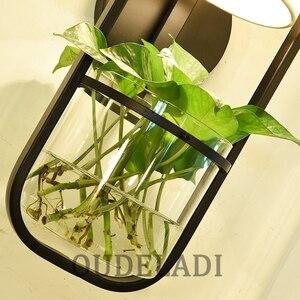 Image 5 - Moderne Amerikaanse Glazen Muur Lampen Ijzer Tuin Slaapkamer Woonkamer Eetkamer Gang Nachtkastje E14 Hydrocultuur Succulenten Blaker