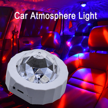 CROSSFOX Auto Tragbare DJ Lampe Led Bühne Kristall Magie Disco Ball Lichter USB Lade Mini Weihnachten Party Decor Atmosphäre Licht