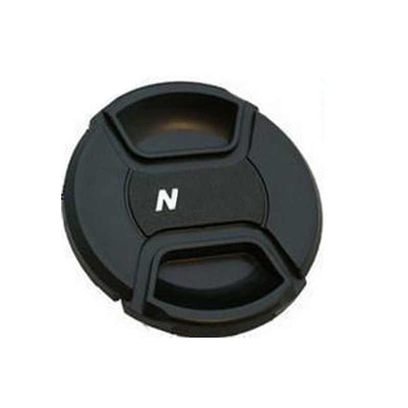 49 52 55 58 62 67 72 77 82 86mm capuchon à encliqueter à pincement central capuchon d'objectif pour objectif canon/nikon