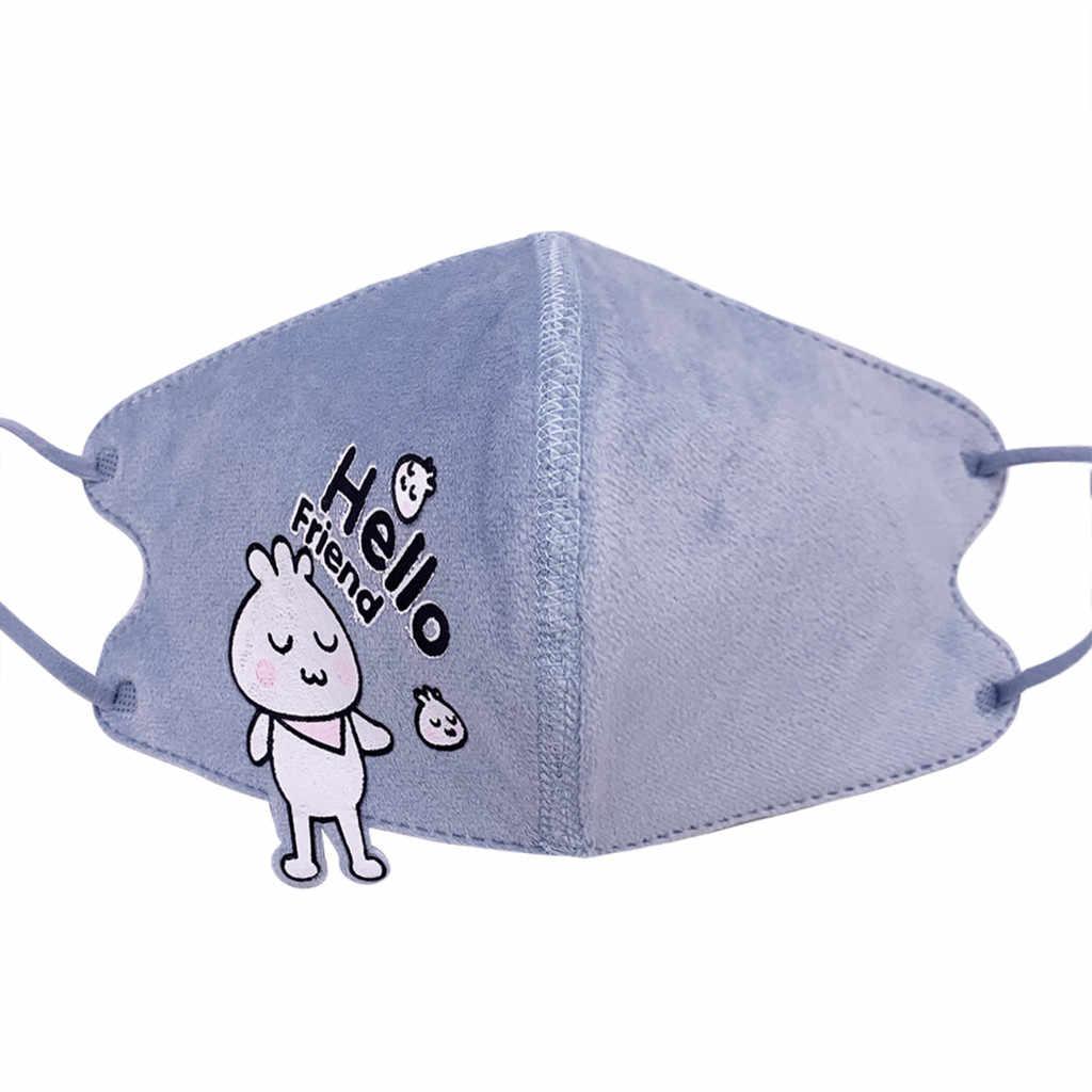 Детская маска для лица G.irl, детская маска, дышащая Пыленепроницаемая хлопковая маска с мультяшным принтом, трехслойная маска для лица, lavable enfant