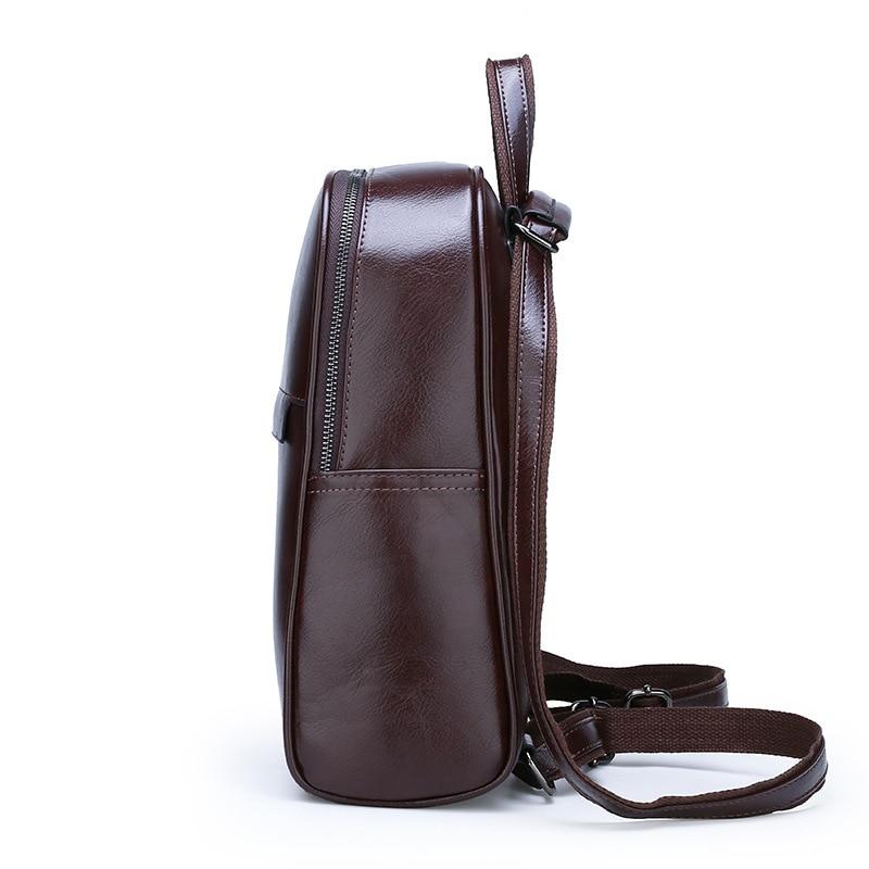 Image 2 - ZMQN Vintage Leather Backpack Women 2020 Mochila Feminina Big  Capacity Bagpack School Bags For Teenage Girls Bag For Female  C130Backpacks