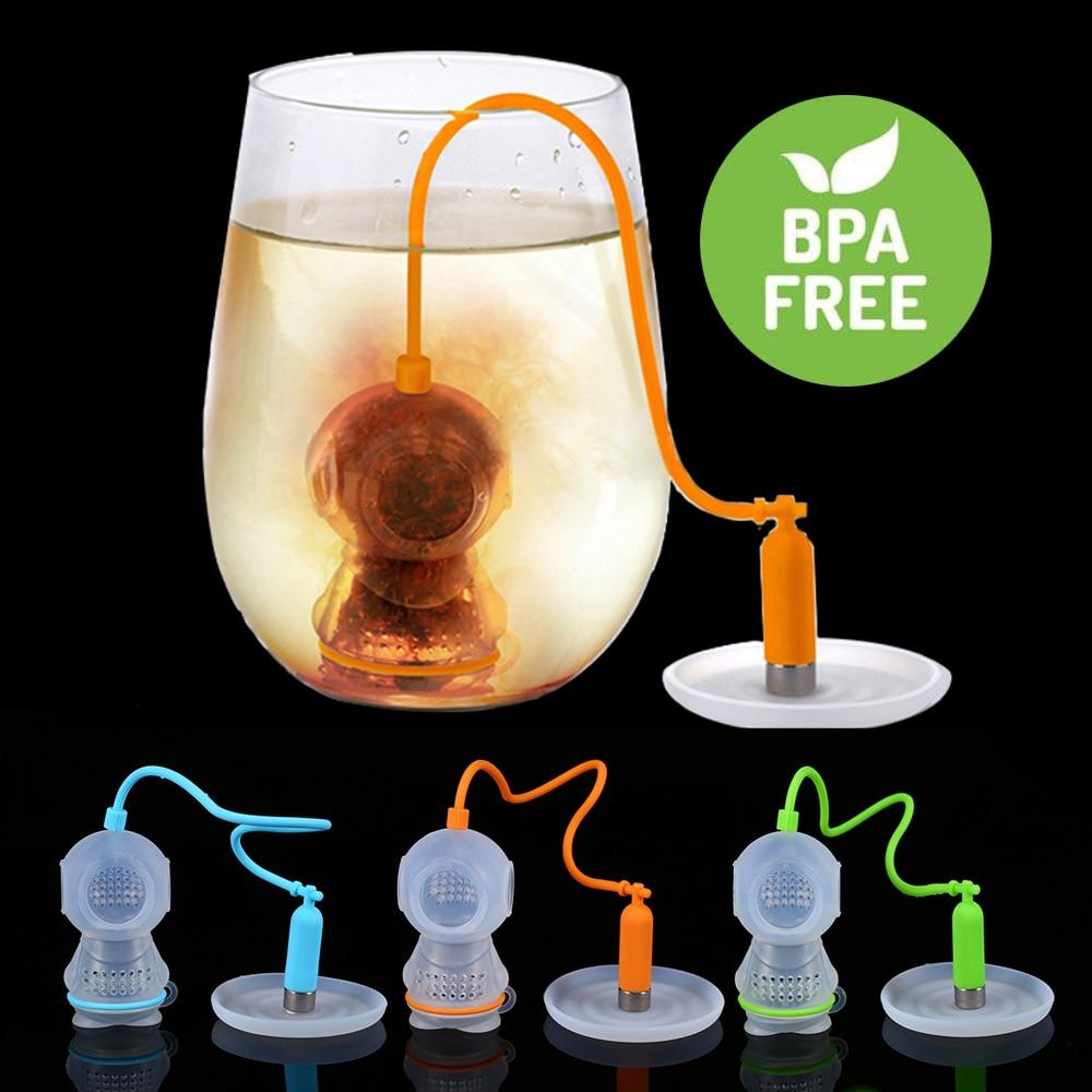 مصافي شاي مبتكرة مفيدة من القماش الشبكي مصفاة أوراق شجر الشاي مصنوعة من السيليكون
