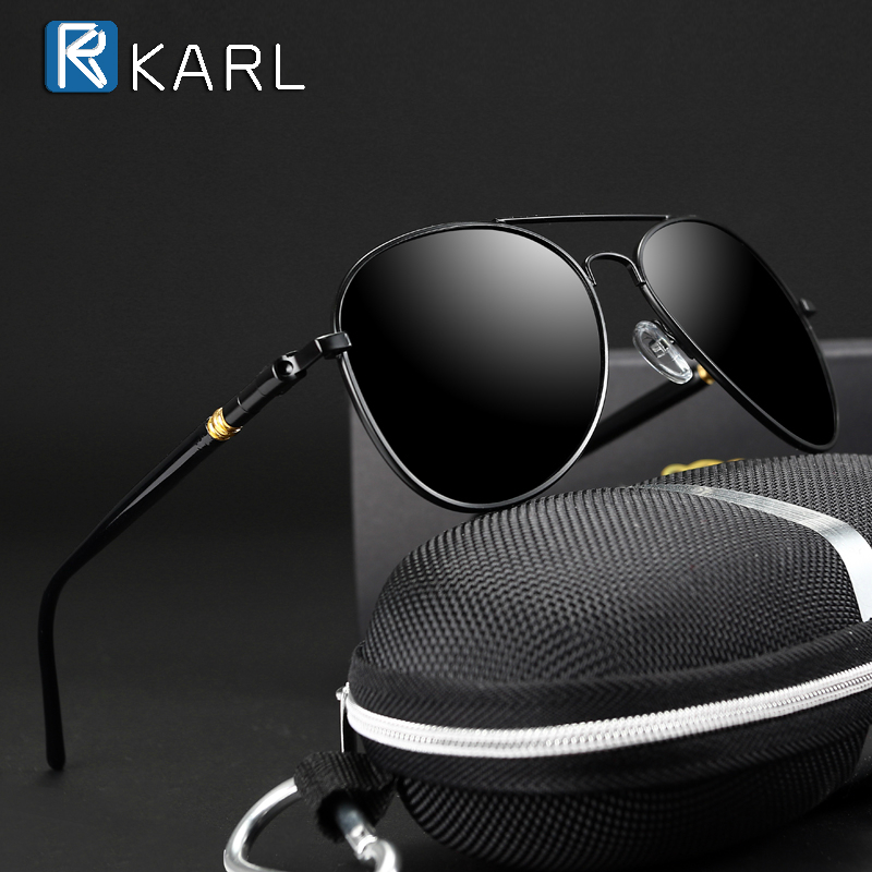 Classic Sunglasses Pilot Black Polarized Men Brand Designer Men/women for Male