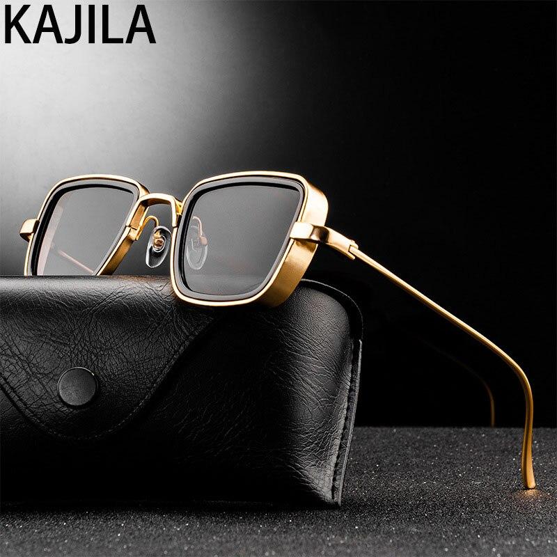 Vintage Steampunk Sunglasses Men 2021 Retro Metal Square Eyewear Trendy Brand Sun Glasses Shades For Women lunette de soleil