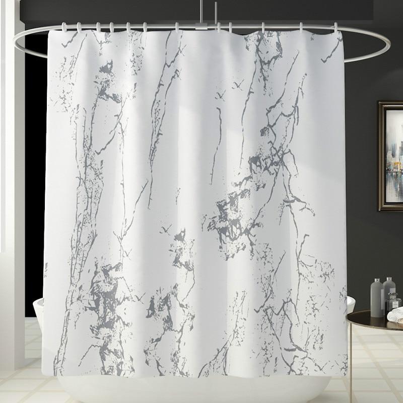 4pcs set new marble print shower curtain toilet carpet bathroom anti slip mats partition curtain home decoration supplies