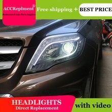 לנץ GLK 2013 2015 פנסים כל LED פנס DRL דינמי אות Hid ראש מנורת Bi קסנון קרן אבזרים רכב סטיילינג