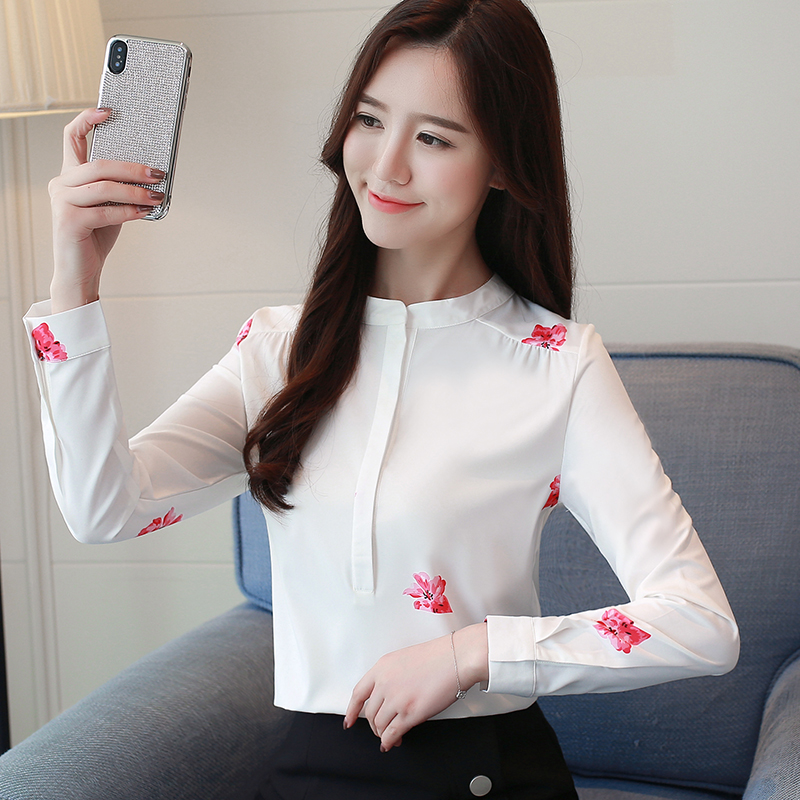 Long Sleeve Women Shirts Plus Size White Blouse Print Women Blouse Shirt Fashion Womens Blouses And Tops Office Blouse 1042 40 2