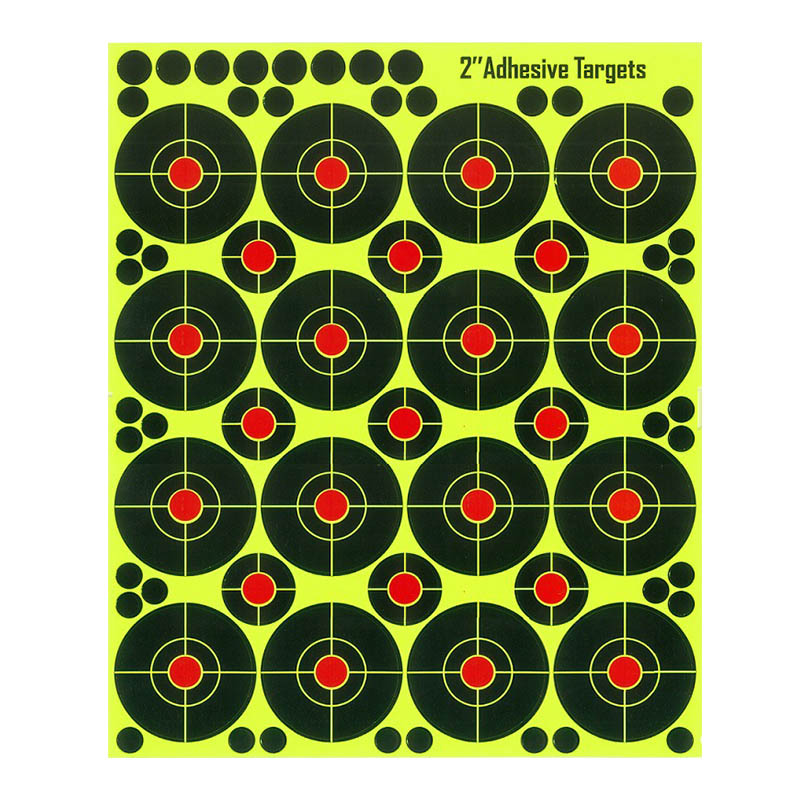 200Sheets Reactive Hunting Target Shooting Targets Self Adhesive Accessories