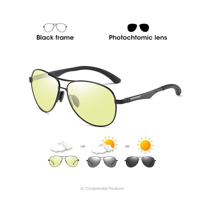 2020 Aviation Driving Photochromic Sunglasses Men Polarized Glasses Women Day Night Vision Driver Eyewear UV400 zonnebril heren 11