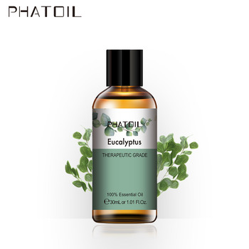PHATOIL 30ml Eucalyptus Essential Oil Diffuser Pure Natural Aromatic Essential Oils Frankincense Sandalwood Tea Tree Massage Oil недорого