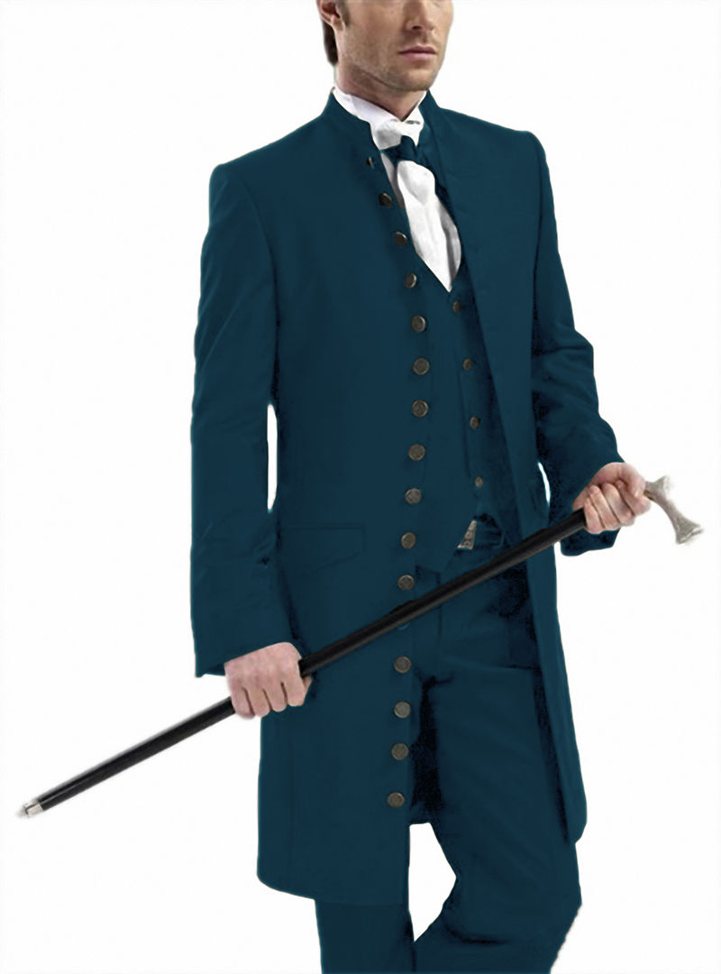Men-s-3-Pieces-Stylish-Gothic-Stand-Collar-Suits-Set-Wedding-Steampunk-Long-Blazer-Jacket-For (4)