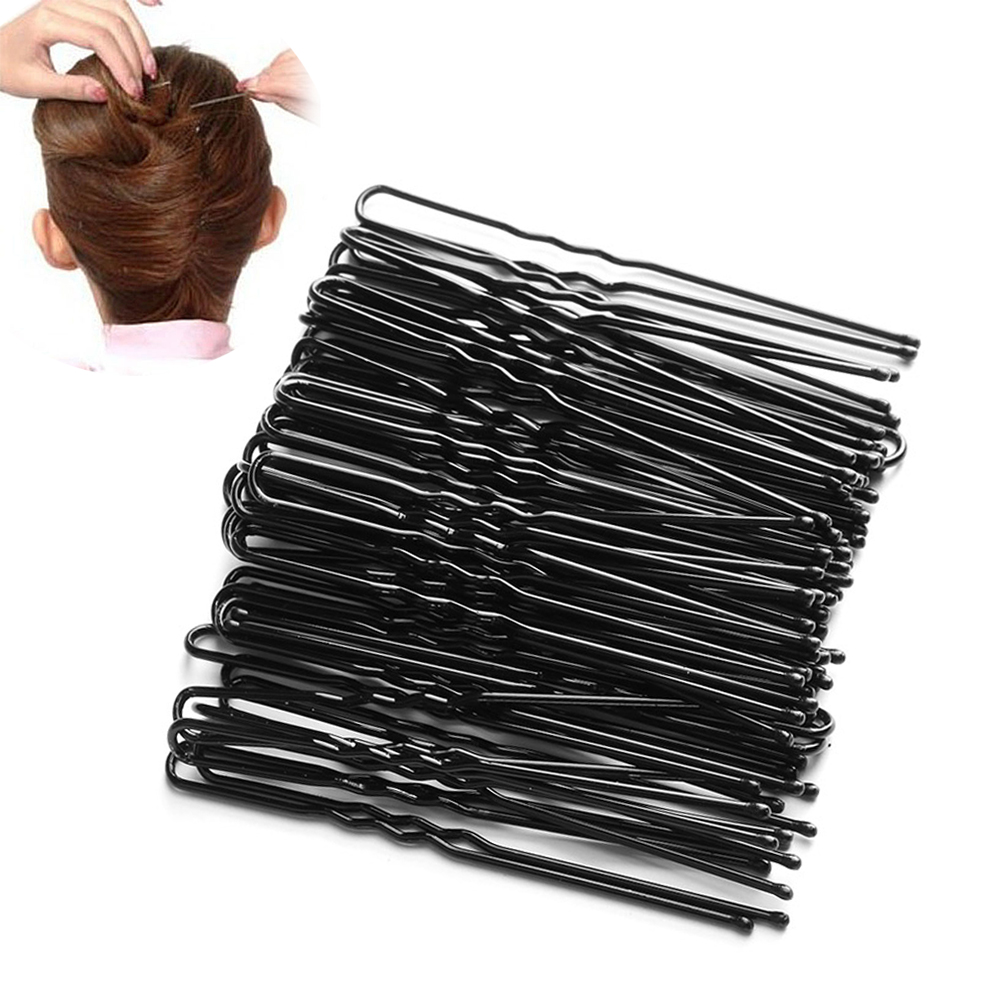 50Pc/Lot Black Plated Metal Thin U Shape Hairpins Girls Hair Clips Barrettes Beauty Hairdressing Accessoriess Styling Tools