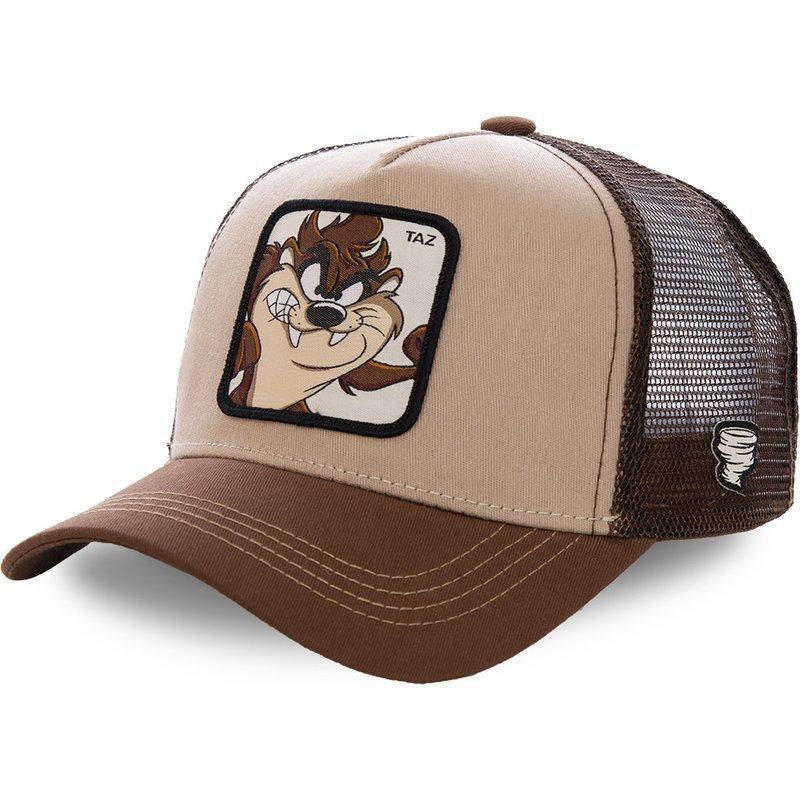 New Brand Anime TAZ Embroidery KHAKI Mesh Snapback Cap Cotton Baseball Cap Men Women Hip Hop Animal Dad Hat Trucker Dropshipping