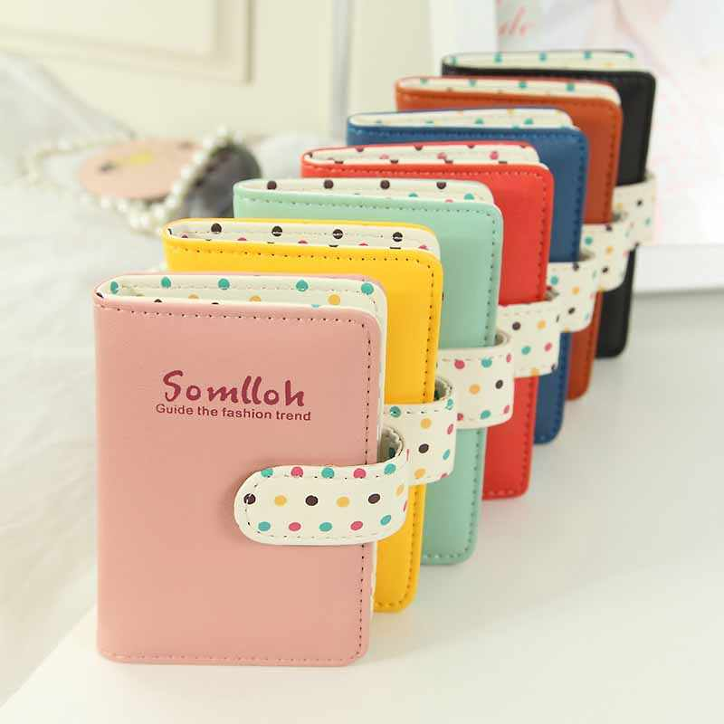 20 card slot business leather card holders women candy color credit card id holder wallet place bank card case pocket cardholder