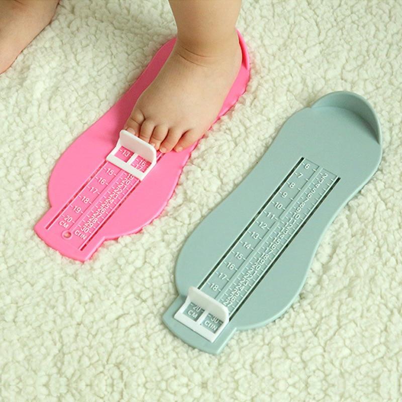 5 Colors Baby Child Foot Measure Props Feet Ruler Gauge Toddler Shoes Fittings Size Measuring Tool Adjustable Range 0-20cm