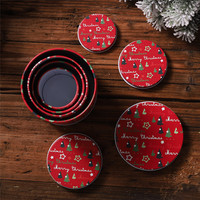 Tin Container Christmas Jar Gift for Children 4PCS Candy Cookie Storage Box Iron sleeve cans candy box gift tin can A1
