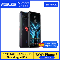 Глобальный Встроенная память ASUS ROG PHONE 3 Strix издание Snapdragon 865 5G мобильных телефонов 12 Гб 128 6,59 ''144 Гц активно-матричные осид, 6000 мАч для телефона ...