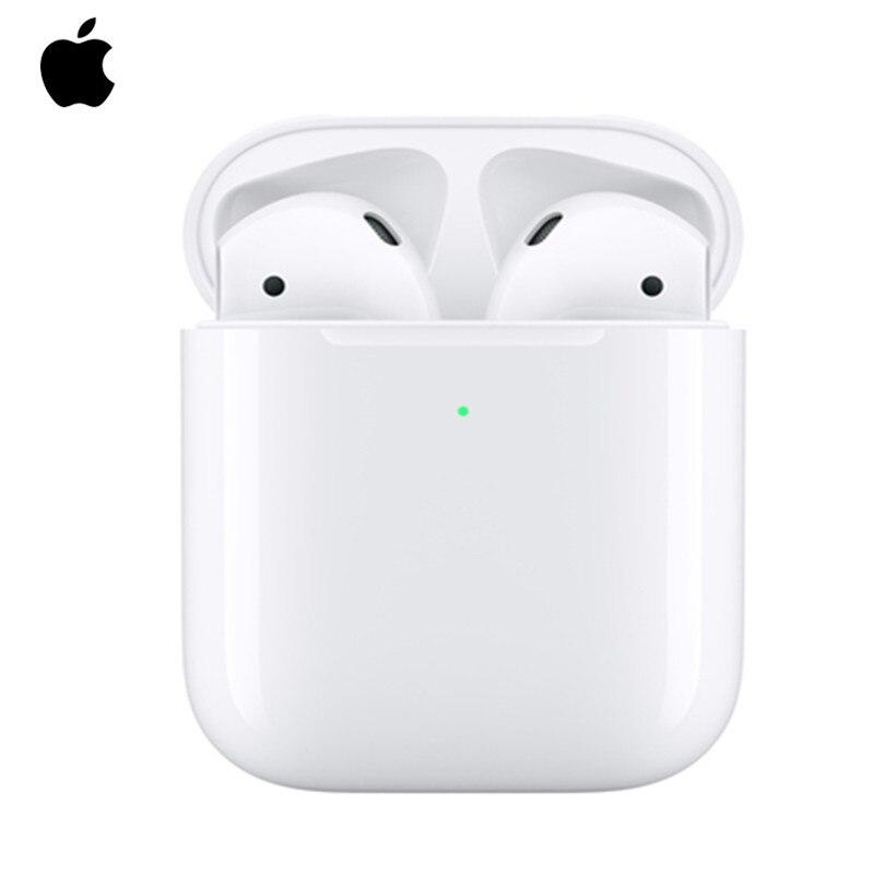 Apple AirPods 2nd TWS Беспроводная bluetooth гарнитура с беспроводным зарядным чехлом для iPhone 11 XR XS MAX iPad Macbook Apple|Наушники и гарнитуры| |  - AliExpress